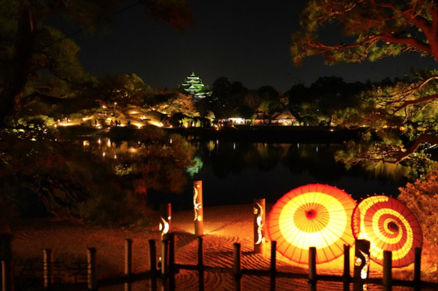 岡山 幻想庭園 後楽園(岡山城)aa.png